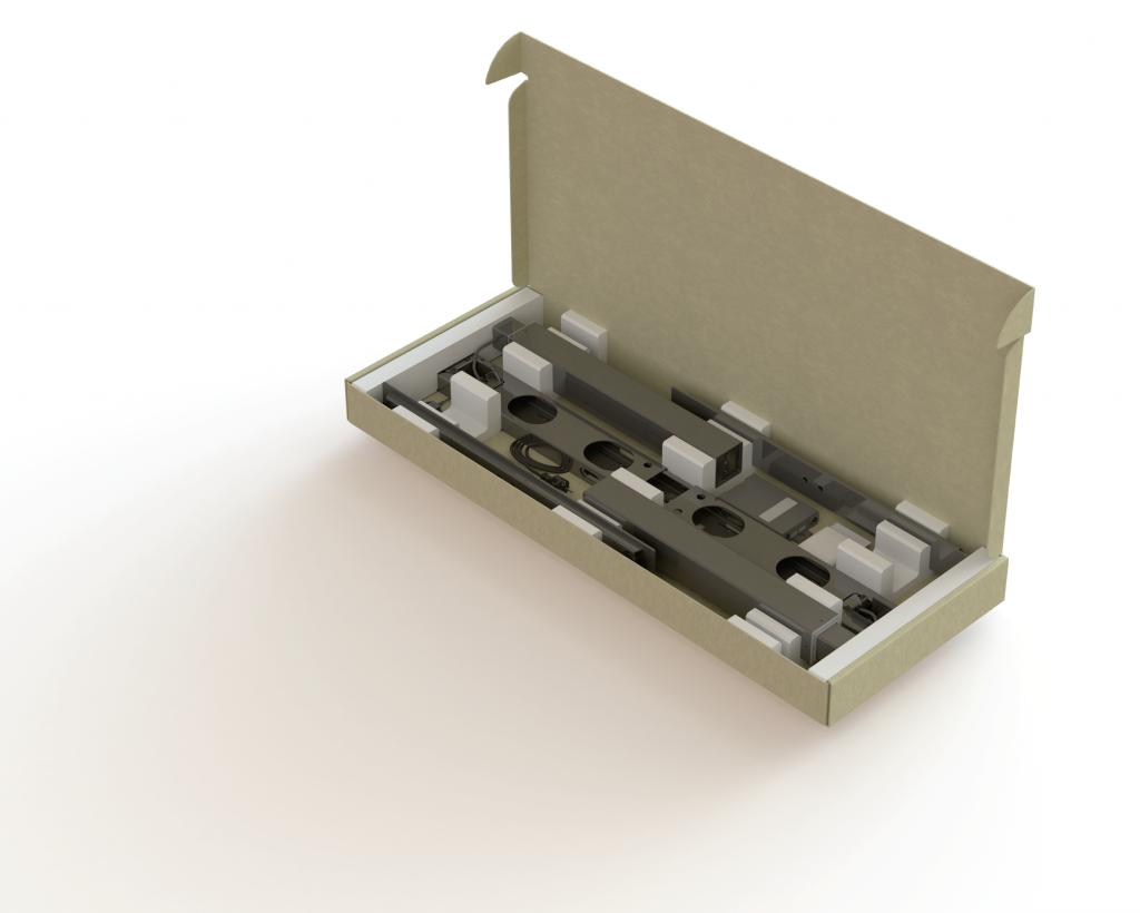 Tafelonderstel NEO van Medzes Components is zeer snel te monteren en vrij compact verpakt !